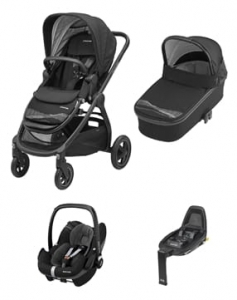 Maxi-Cosi Adorra Frequency Black 4w1 Gondola Oria  + Pebble Pro Frequency Black  + FamilyfixOne