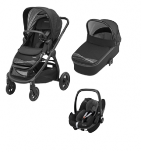 Maxi-Cosi Adorra Frequency Black 3w1 Gondola Oria  + Pebble Pro Frequency Black
