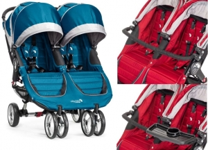 BABY JOGGER CITY MINI DOUBLE TEAL/GRAY + GRATIS