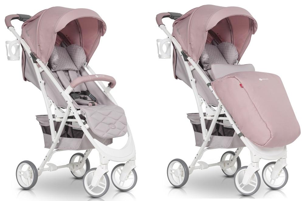 ,EURO CART Wózek dziecięcy FLEX Powder Pink,nieznany producent